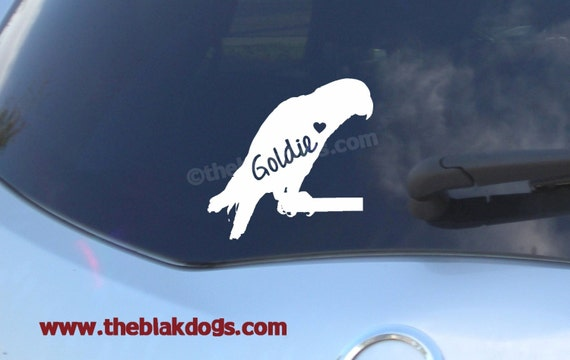 GERMAN SHEPHERD -Dog Vinyl Decal for Cars- Bumper Sticker -Fasing LEFT