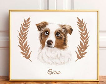 Custom Pet Portrait | Custom pet drawing | Animal portrait | dog portrait | dog lover | portrait painting | personalized gift | mothers day