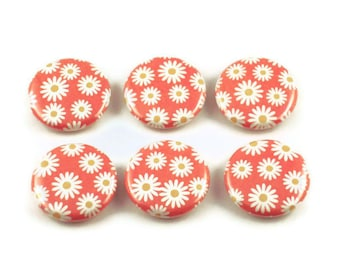 Funky Button Magnets  Refrigerator Magnets in  Sunny (BM94)