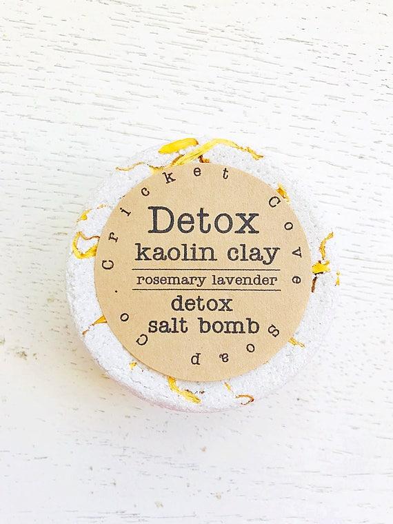 Bath Bomb - Detox Rosemary Lavender with Kaolin Clay - All Natural - Vegan - bath bomb