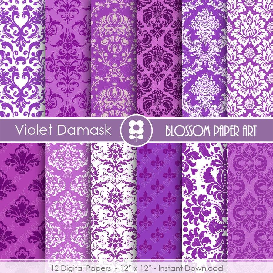 Papel decorativo violeta papeles digitales lila para for Papel decorativo pared