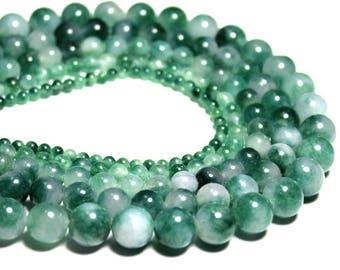 Natural green Jade gemstone beads, Gemstone beads, Green beads, Round beads, Strand loose beads, 4mm - 12mm beads, Jewelry making beads, B05