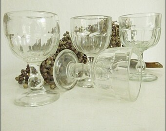 4 antique wine glasses... CHARMANT