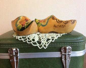 Vintage Holland Dutch Wooden Shoes