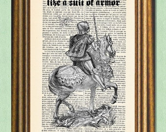 Game of Thrones - HONOR - Dictionary Art Print  -Antique book page recycled -Movie Quote Book Quote
