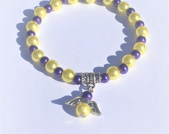 """""""The purple and Yellow Angel"""" bracelet"""
