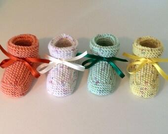 Sunshine Bootie. The finest quality Italian Merino handmade booties for baby boys and girls.