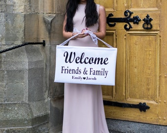 Large Hand Held Wedding Greeting Sign