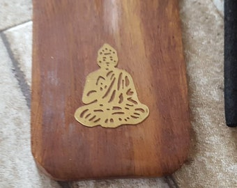 Buddha Incense Holder -  Wooden Joss Stick Burner -  Incense Holders - Healing Fragrances - Incense Sticks - Gift Set - Home Decor