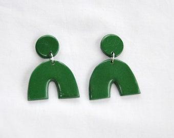 Forrest Green Arch Earring