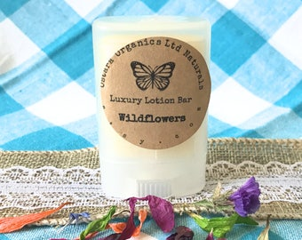 Wildflower Lotion Bar, Wildflower, Portable Lotion Bar, Natural Lotion bar, Organic Lotion Bar, Solid Lotion, Wedding Shower favor, gift