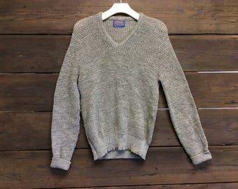 Vintage 60s Pendelton Wool Knit Sweater