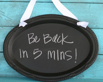 MAGNETIC CHALKBOARD SIGN.  So many possibilities.  Customizable.  Your sign can say Memos or Let's Celebrate, be blank or custom
