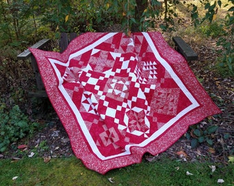 Peppermint Twist Red & White Quilt