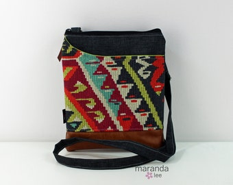 ZOE Messenger Cross Body Sling Bag - Fiesta with PU Leather READY to SHIp  Ipad bag