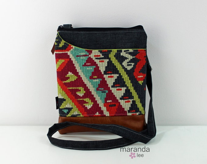 ZOE Messenger Cross Body Sling Bag - Fiesta with PU Leather READY to SHIp