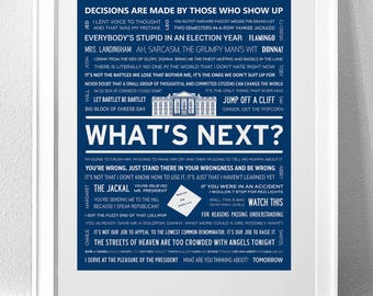 THE WEST WING Typography Print