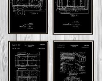 Camper Patent dated March 1950. Camping Patent, Patent art, Camping decor, Patent decor, Camper patents, Vintage Camper print
