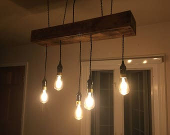 20 pendant reclaimed wood chandelier bare bulb chandelier edison bulb chandelier aloadofball Image collections
