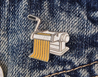 Pasta Maker Enamel Pin