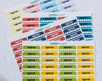Hydrate Tracking Planner Stickers