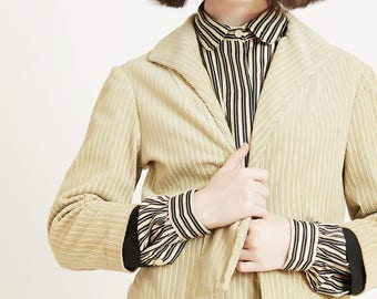 Corduroy Suit with Cropped Jacket