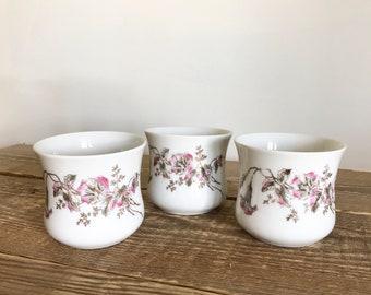 Set of 3 CH Field Haviland Limoges French Pots de Creme Tumblers