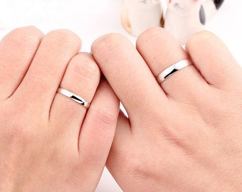 Genuine 925 Sterling Silver Solid 2mm 3mm Thin Classic Plain Band Wedding Ring