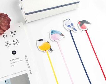 Birds Magnetic Ribbon Bookmark | Colorful Bird Bookmark with Ribbon | Long Tail Bookmark Ribbon | Bird Magnetic Bookmark | Birds Magnet