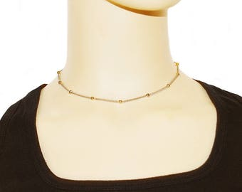 Dainty Gold Chain Choker - Ball Chain Choker Necklace - Gold Choker Necklace - Thin Gold Choker - Delicate Choker Jewelry