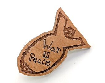 War is Peace - Well Read Pin