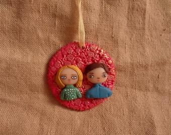 Couple Ornament, Couple Christmas Gifts, custom couple christmas ornament, Ornament With Couple, Custom Ornament, Custom Couple Portrait