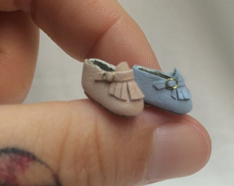 Miniature Handmade Baby shoes in leather