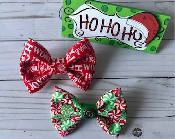 Christmas Dog Bow Tie | Cat Bow tie