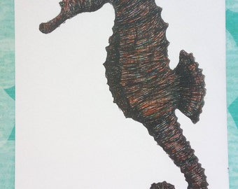 Seahorse ORIGINAL drawing