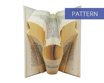 Folded Book Art Pattern - Harry Potter Golden Snitch - 157 Folds - Bookfolding Pattern - Folded Book Pattern - Book Folding pattern