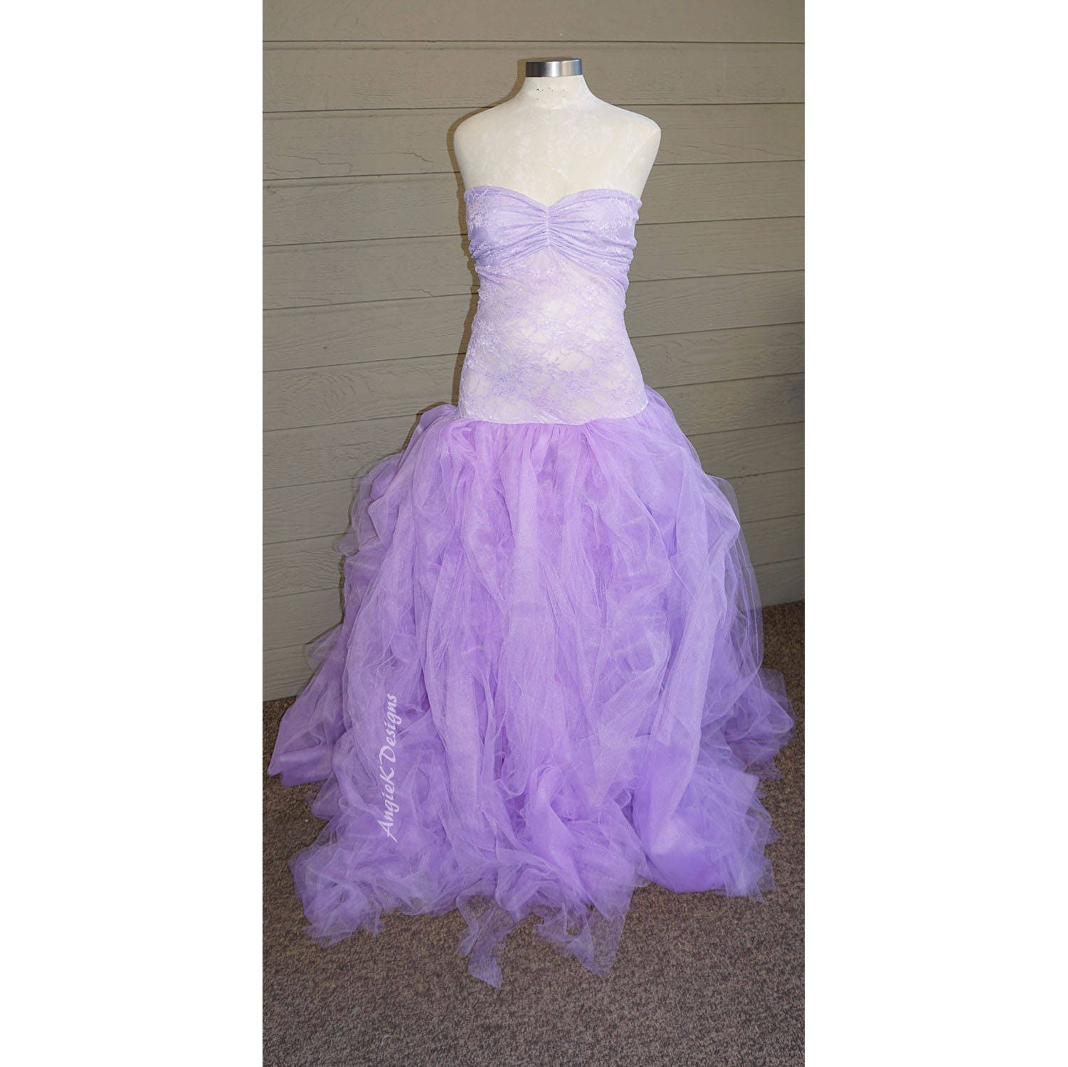 LAVENDER Purple Tulle Dress Gown Fluffy Flowy Tulle Maternity