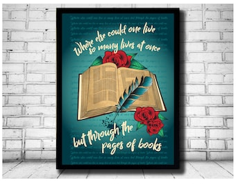 bookworm gifts, bookworm prints, bookworm cards, book theme, books print, reading quotation, readers, reading gift, teacher gift