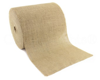 """50 Yards - 12"""" Burlap Roll - Unfinished Edges - Eco-Friendly Premium Natural Jute Burlap Fabric - For Table Runners & Rustic Decor - 12 Inch"""