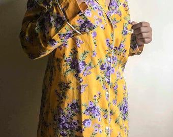 Short Sleeve Shirt, 35% discount, 35 percent sale, Yellow Floral