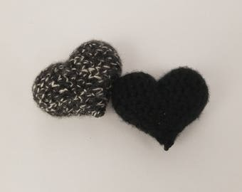 Cookies 'n' Cream Heart Shaped Crochet Cat Toys