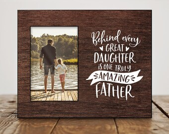 Fathers Day Gift from Daughter Fathers Day Photo Frame Fathers Day Picture Frame Birthday Gift for Dad from Daughter Cute Dad Picture Frame