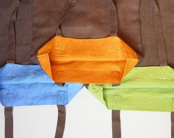 Brown bag, upcycled bag, shopping bag, one of a kind, tote bag, recycled bag, upcycled fabric, sustainable.