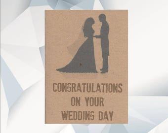 CONGRATULATIONS On Your WEDDING DAY, Wedding Day Card, Marriage Card, Wedding Day Card