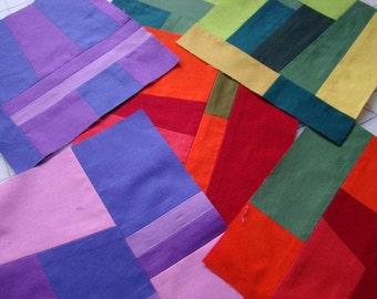 Pieced Quilt Block-Purple 2