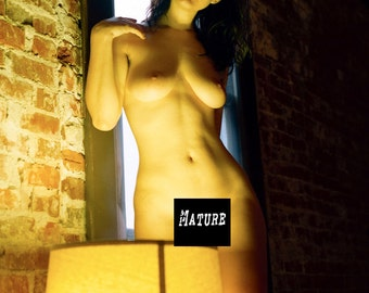 Artistic nude female model in natural and artificial light pure fine art photo print from color film lomography - Natural - Color 06 MATURE