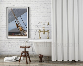 Bathroom art/boat photography/nautical photography/bathroom wall decor large wall art print 8x10 Vintage Shabby Chic, boating sailing