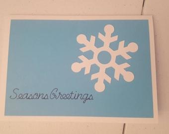 Handmade Christmas Card, Snowflake,  Holiday Greeting Card, Winter Handmade Greeting Card,  Stampin Up Christmas Card, Wintery Card, Holiday