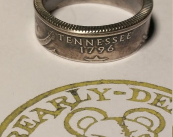 TN Tennessee state quarter ring 90% silver