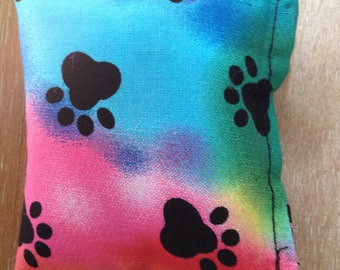 Handmade Rainbow Paw Print Catnip Cat Toys